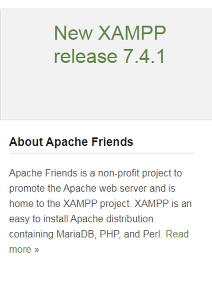 New Xampp