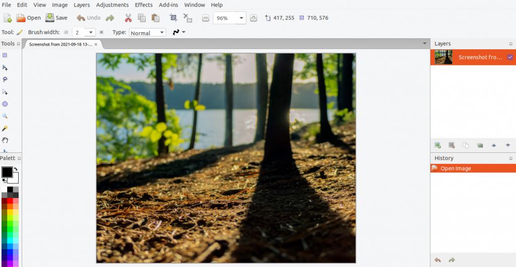 edit with pinta photo editor