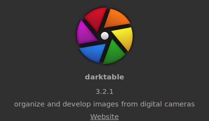 Darktable free photo editor